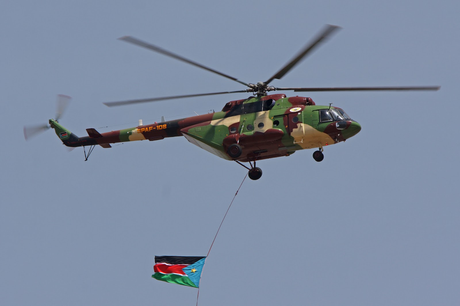 Armées du Sud Soudan MI-17V5+SPAF-108+21-01-2011