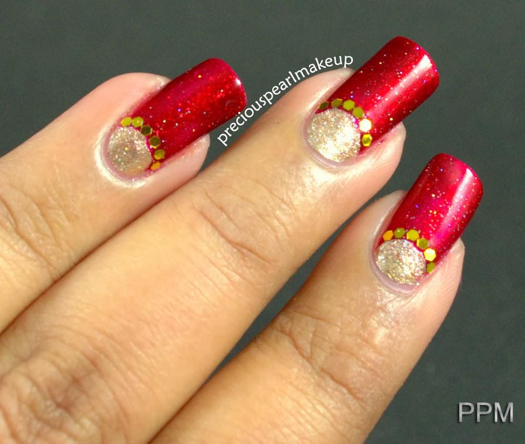 Few more pics. - Preciouspearlmakeup: Indian Bridal Nail Art And Tutorial