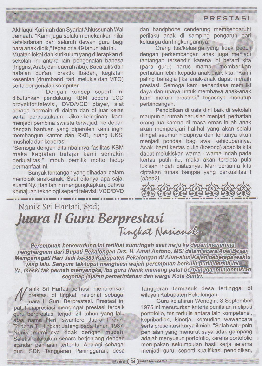 tahun 2011 di halaman 34 35 berikut tampilan tulisan selengkapnya