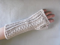 lace cable gloves mitts mittens knitting pattern