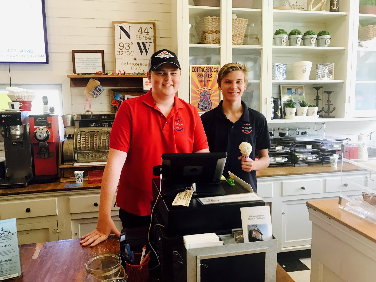Sweetest ice cream cone in west Metro served with a smile at Cottagewood General Store.