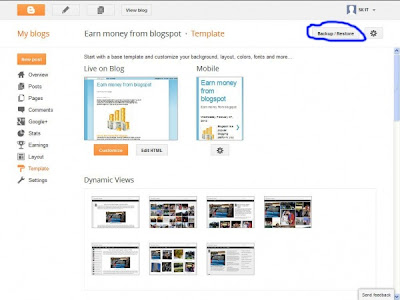 Blogger Template Menu