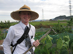 Working in the fields (missionary and garden)