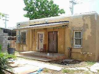 Back Porch of 167 NW 23rd Street, Miami, Florida duplex.