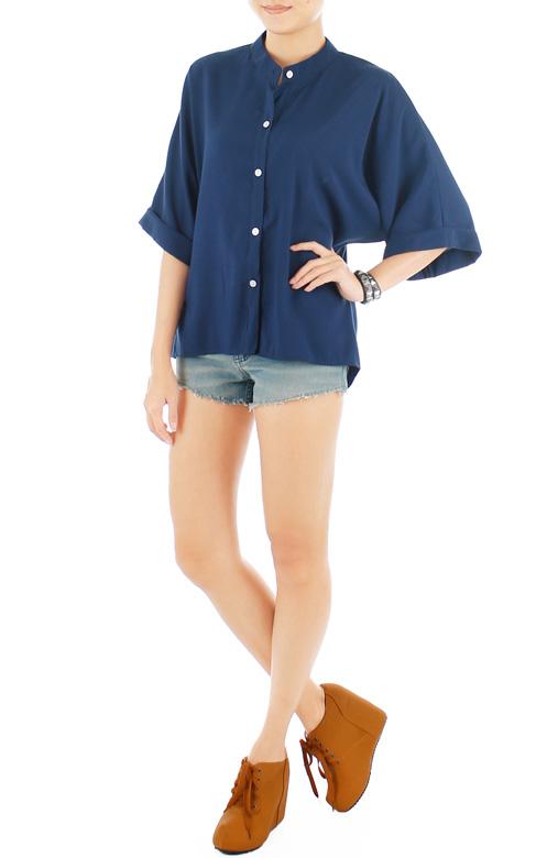 Sunday Kimono-inspired Blouse - Midnight
