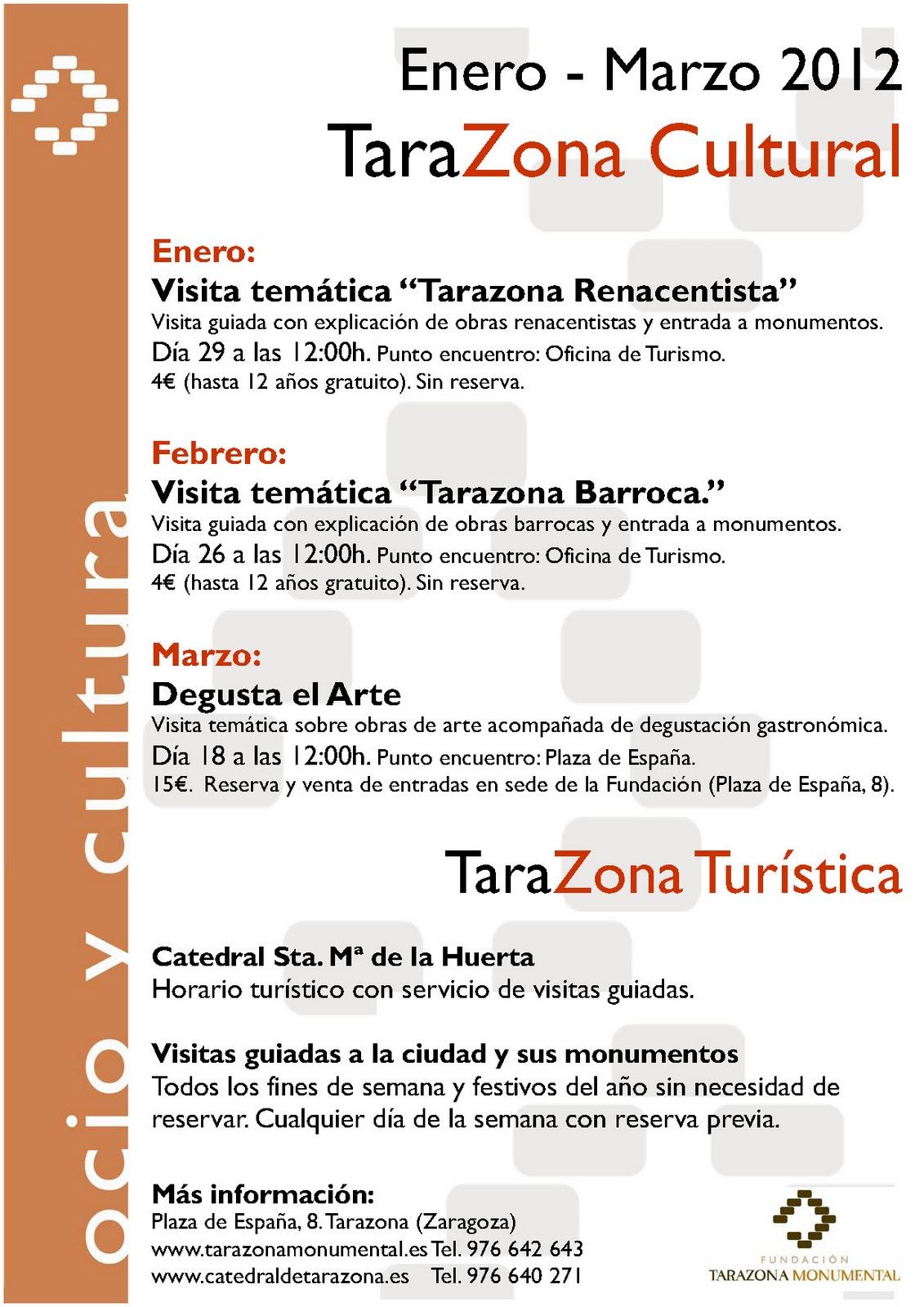 Rincones de zaragoza for Oficina turismo tarazona