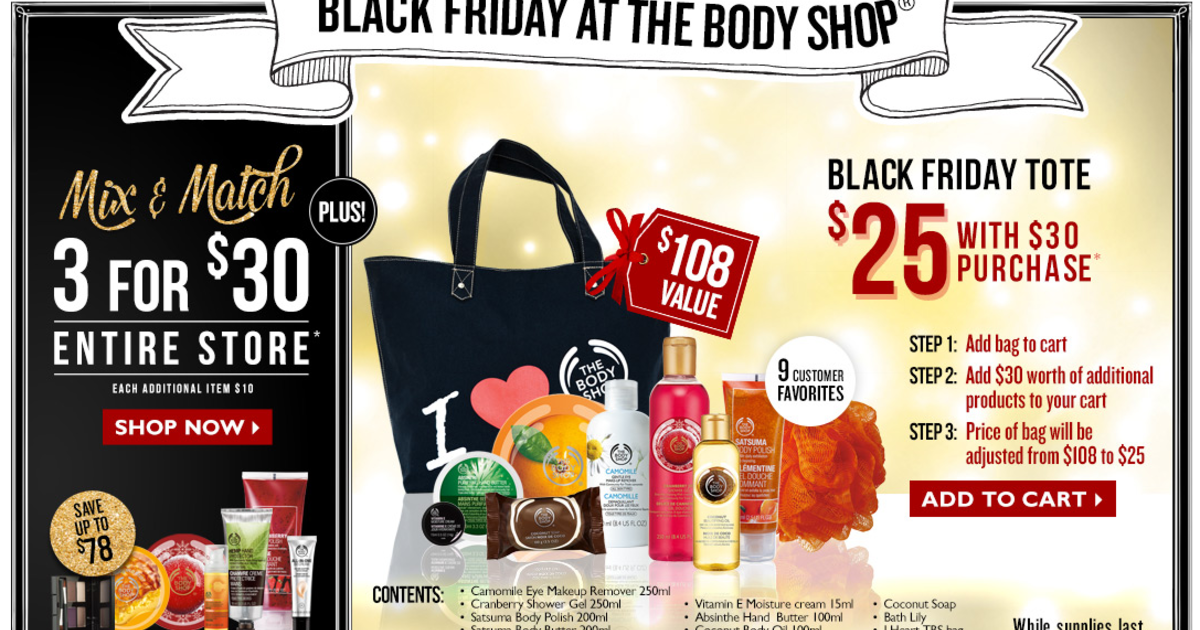 The Body Shop Black Friday Ad 2013 Black Friday Ads 2013