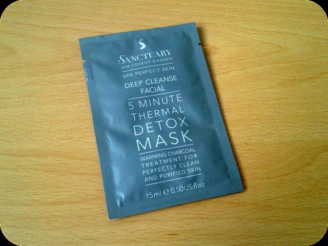 Sanctuary 5 Minute Thermal Detox Mask review
