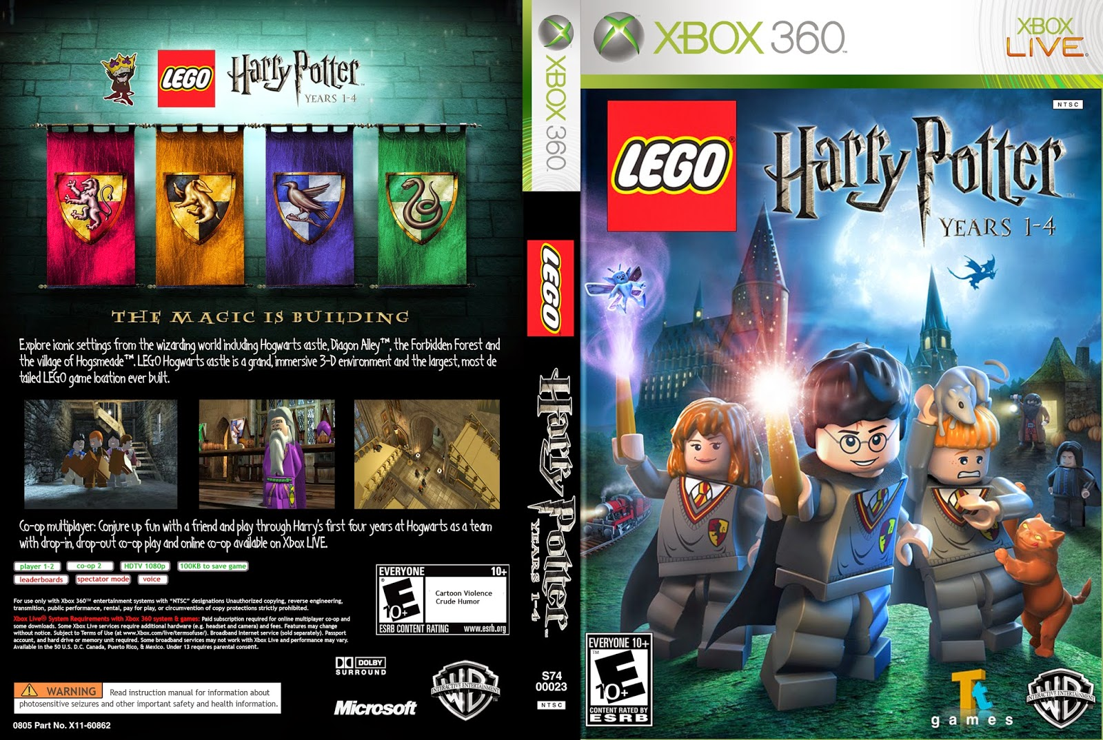 Capa Lego Harry Potter Years 1-4  XBOX 360