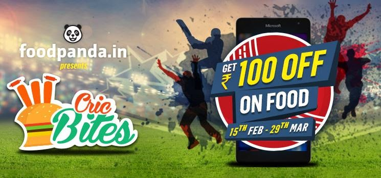 Foodpanda : Cricbites – Catch the Cricket action with foodpanda : Buy To Earn