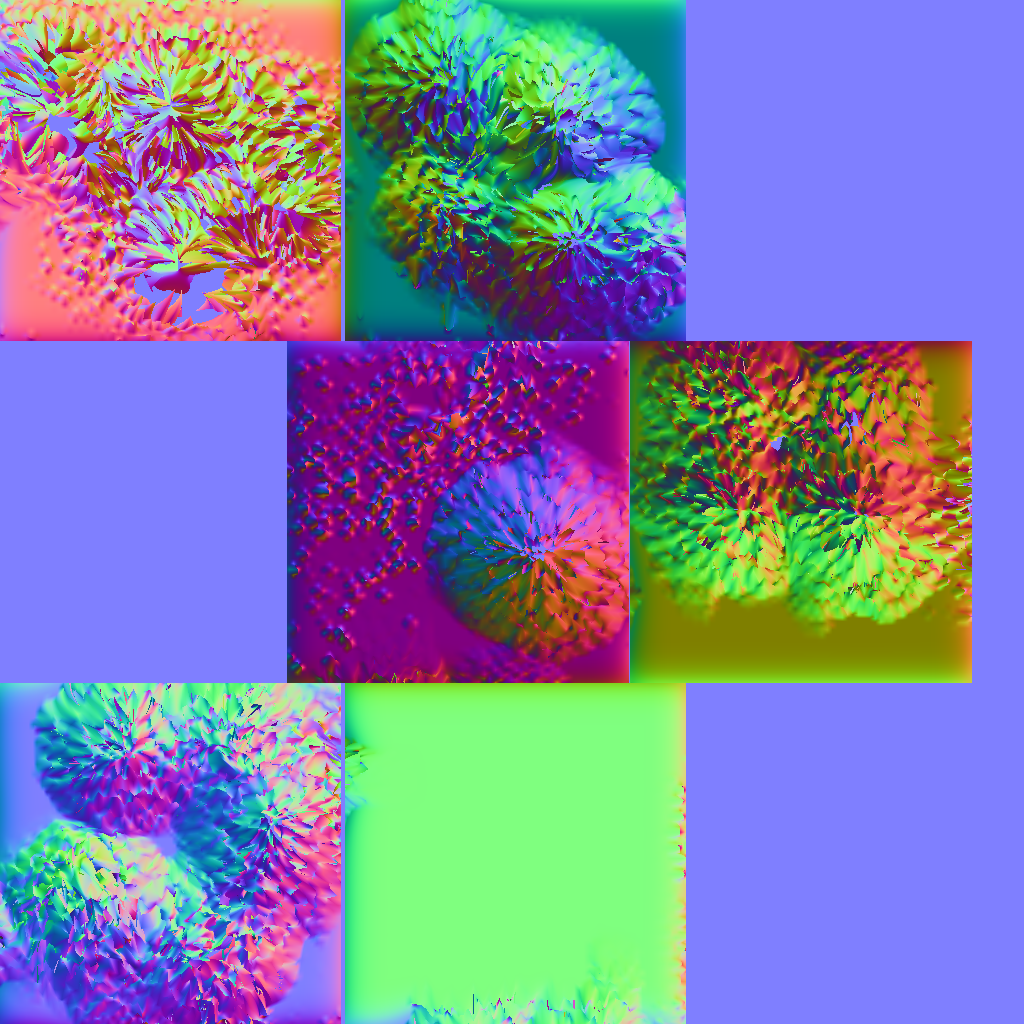 the one on the left is normal mapping of my cube in object space and the one on the right is in tangent space these were generated from the texture map