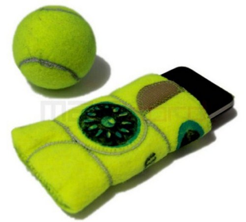 Custodia per Iphone da riciclo creativo palline da tennis