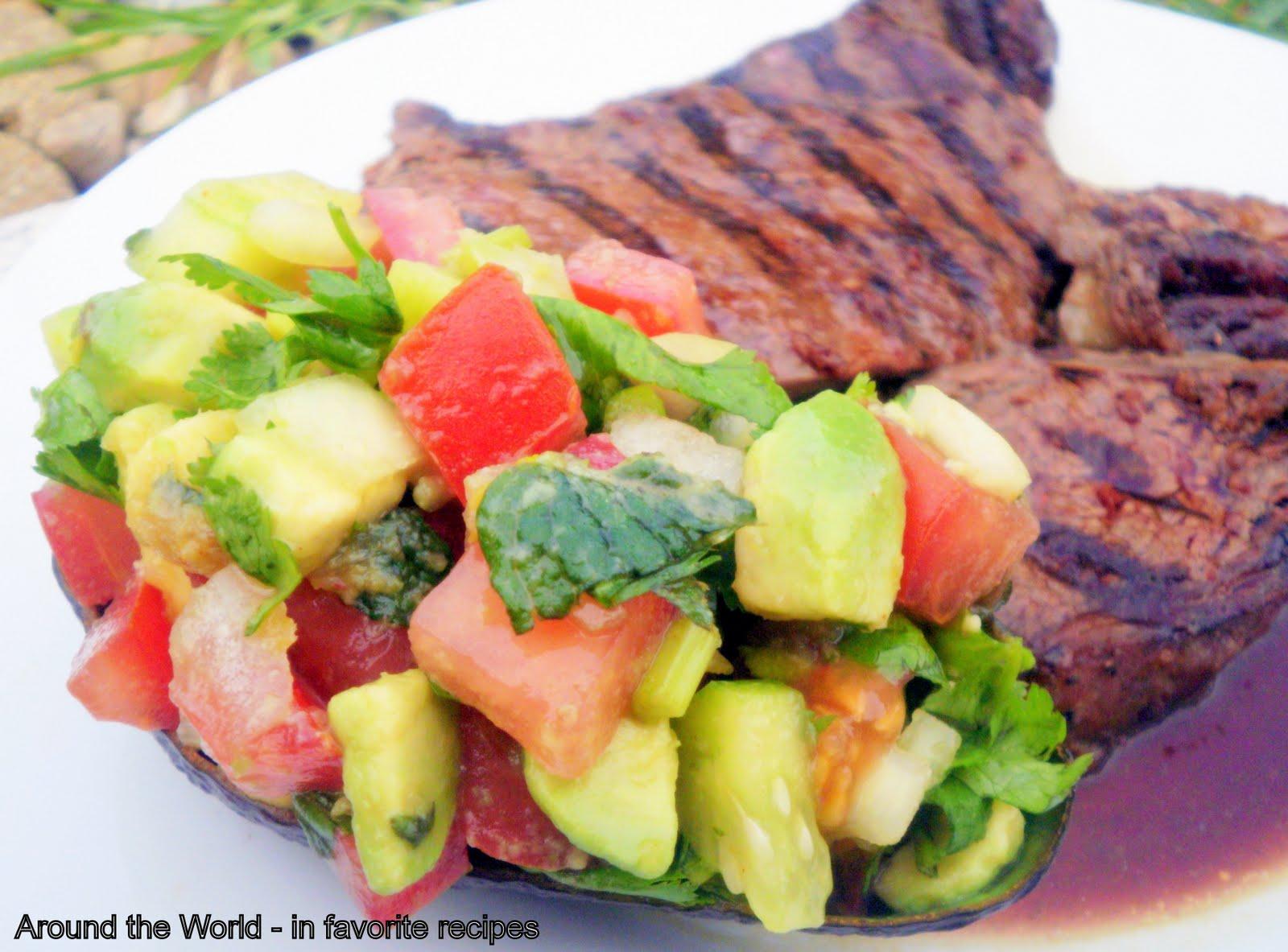 Arabic Salad with Grilled Rump Steak