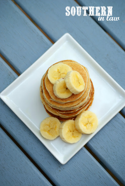 Gluten Free Banana Protein Pancakes Recipe - low fat, gluten free, high protein, sugar free, clean eating, protein powder, healthy