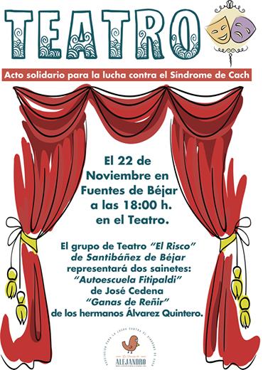 El grupo teatral de Santibáñez de Béjar representará sendas obras para recaudar fondos por la sonrisa de Alejandro