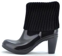 botas de agua tacón