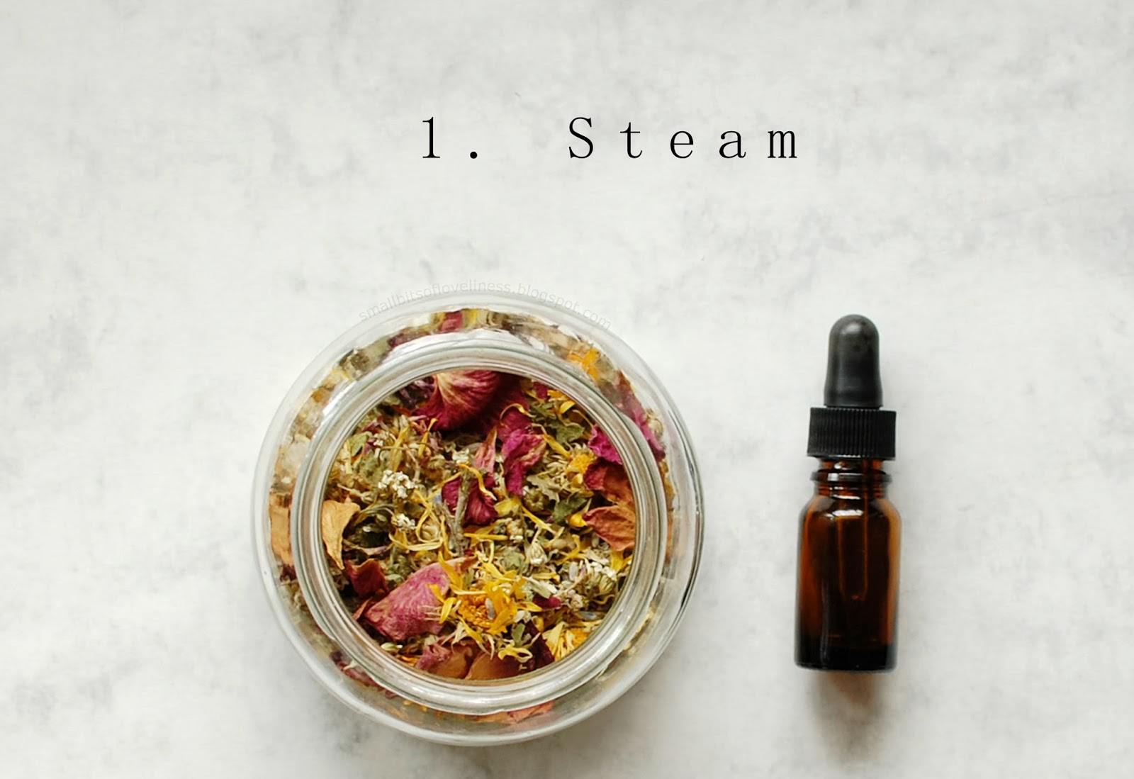 DIY Floral Facial Steam, DIY Olive Castor Oil