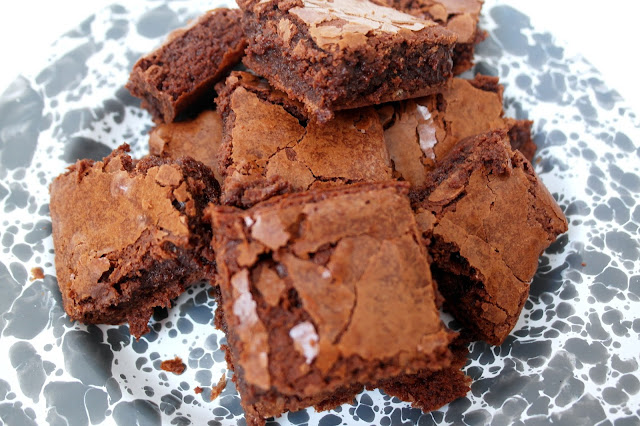 Sea Salt Chocolate Brownies by What Laura did Next