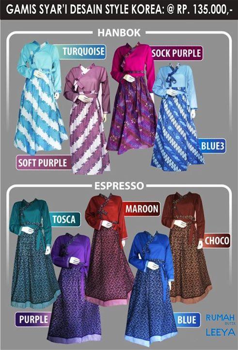 gamis batik hanbok