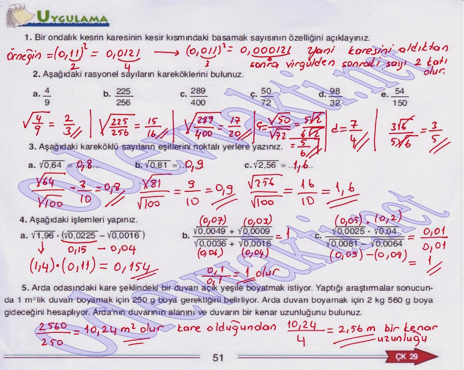 Can matematik yayınları matematik ders kitabı cevapları-sayfa 51
