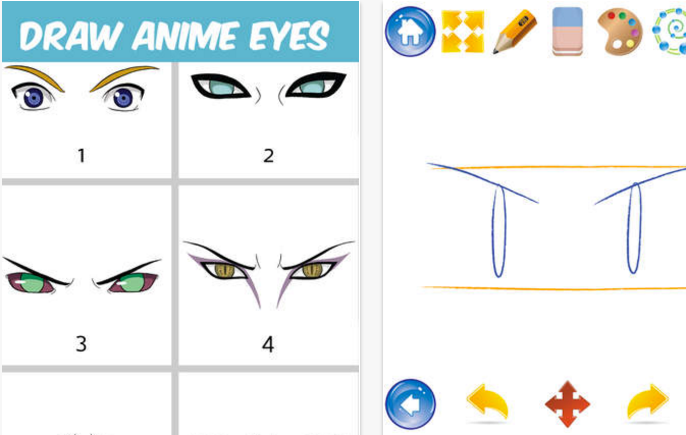 €�easily Learn To Draw Japanese Anime And Manga Type Eyes These Step By  Step Drawing Tutorials Are So Simple That It Is Great For Everyone  Including Kids