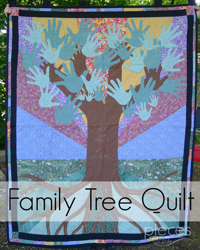 Pieces by Polly: Family Tree Anniverary Quilt : quilt with family pictures - Adamdwight.com
