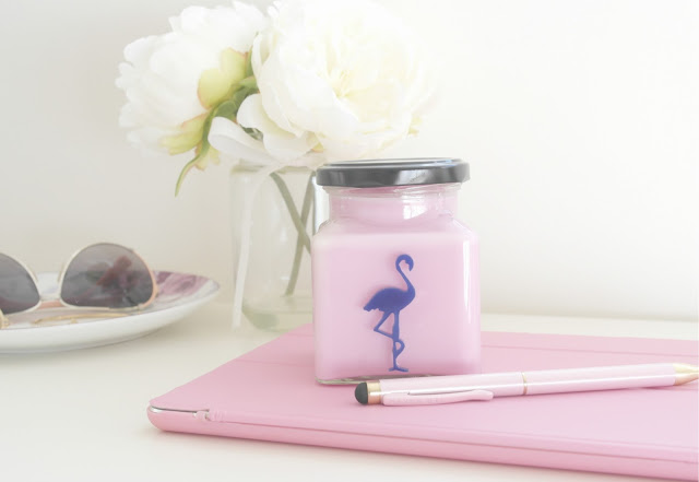 flamingo candles raspberry and salted caramel