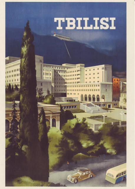 1939 Cartel Soviético de Turismo Vintage, Tbilisi Georgia