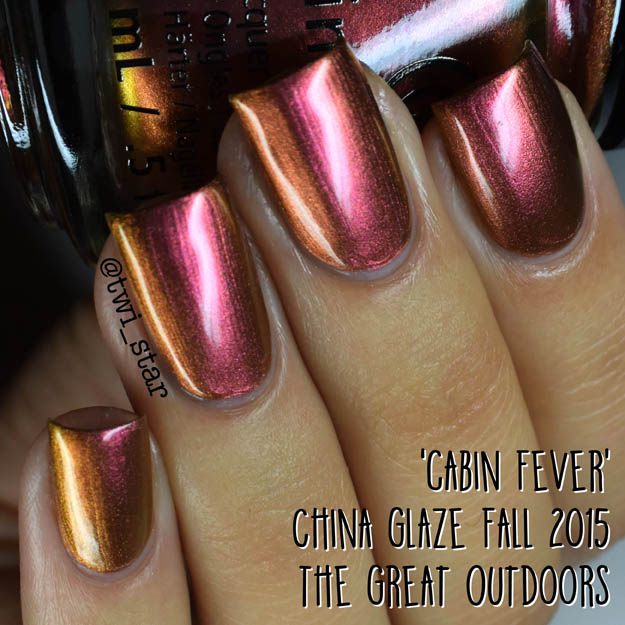 China Glaze The Great Outdoors Fall 2015 Cabin Fever