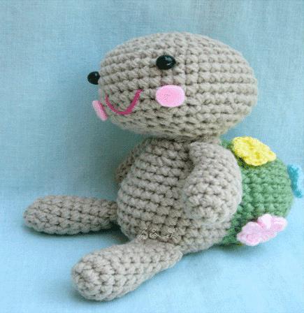 Amigurumi Crochet Pattern-In the garden turtle Sea and ...