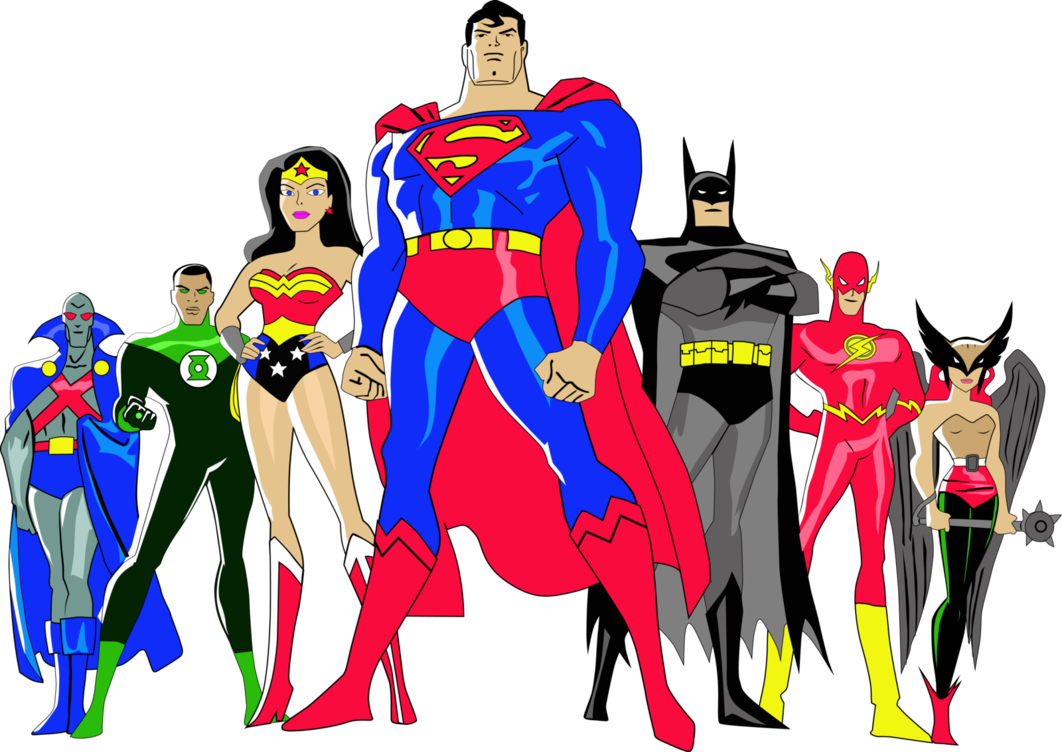 Cartoon Characters Justice League : Kit digital liga da justiça para montagens digitais