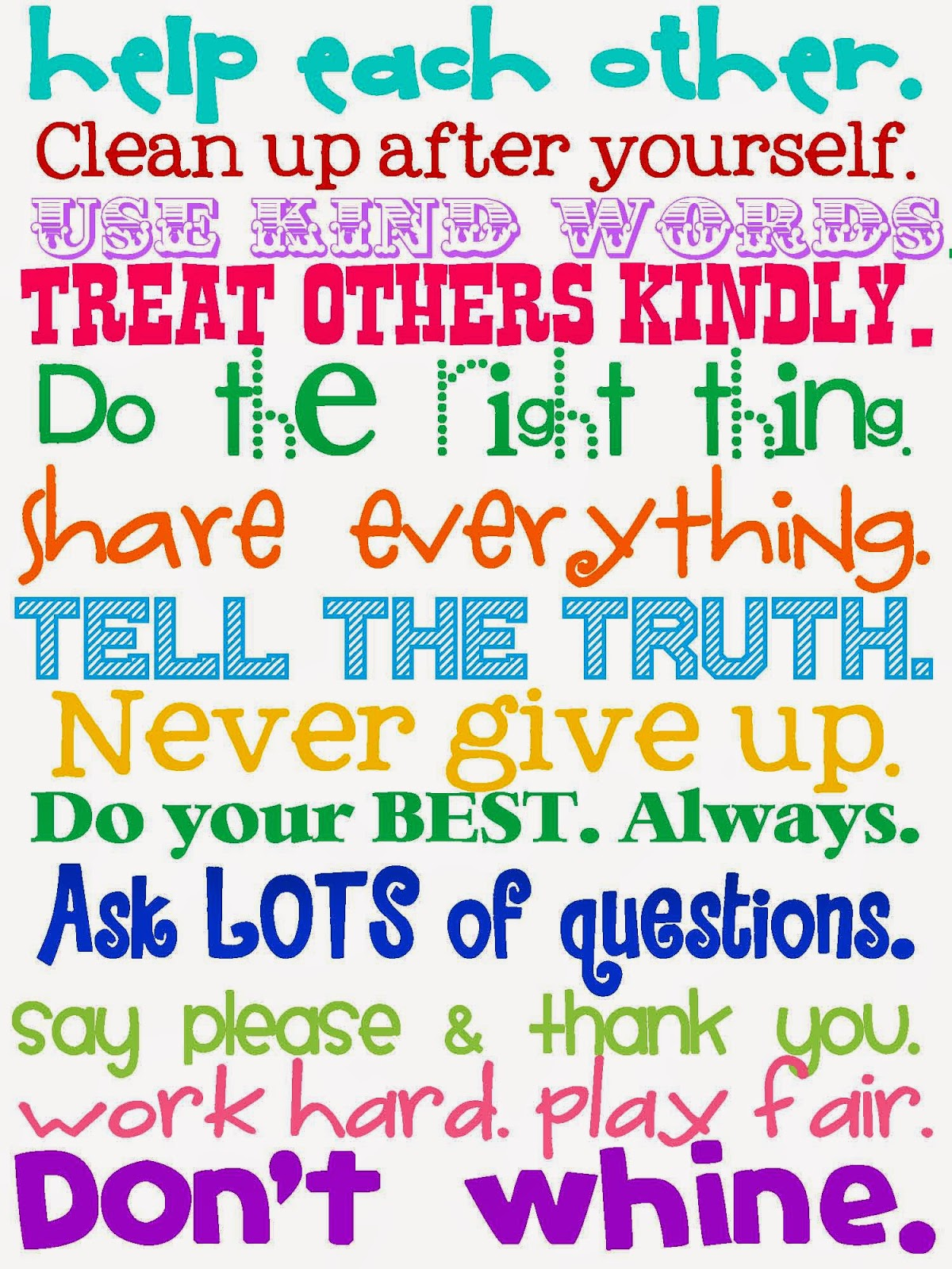 Positive Printable Classroom Quotes. QuotesGram