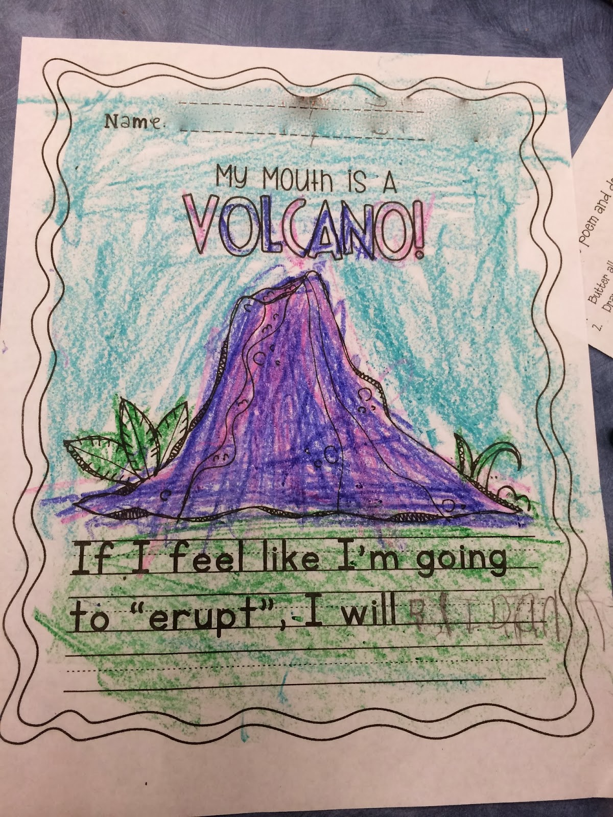 My mouth is a volcano essay