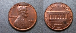 1981 CUD Lincoln Cent Found Coin Roll Hunting 5/29/2013