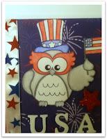 Patriotic Owl