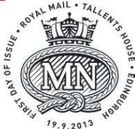 Postmark showing Merchant Navy cap-badge.