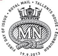 Postmark showing Merchant Navy cap-badge.