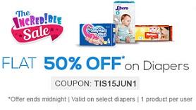 Flat 50% off on Baby Diapers @ Firstcry (For Today Only)