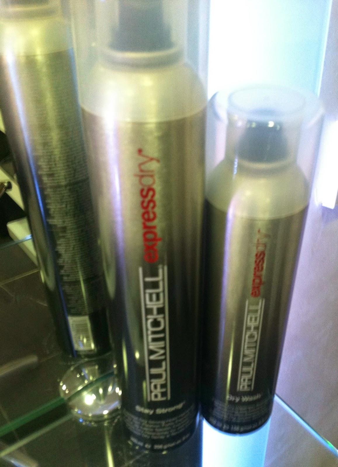 paul mitchell express dry  dry shampoo dry wash stay strong hairspray