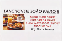 LANCHONETE JOÃO PAULO II