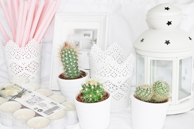 Katherine Penney Chic Haul Homewear Bedroom Pretty White Decor Cacti Girlie IKEA shopping