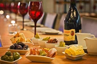 O que servir nas bodas de vinho - almoço ou jantar