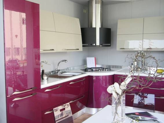 Cocinas color morado italianas modernas colores en casa for Cocina moderna de color