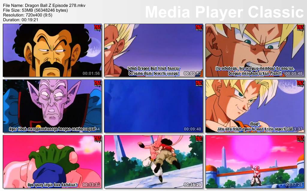 Download Film / Anime Dragon Ball Z Majin Buu Saga Episode 278 Bahasa