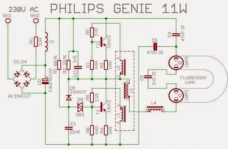 skema lampu philips