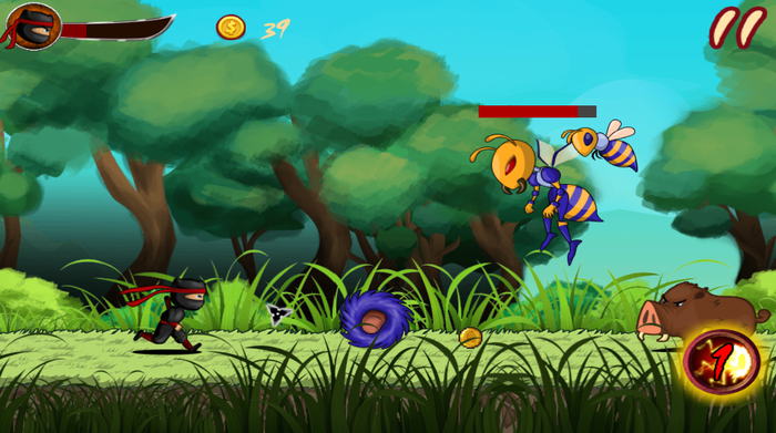 Game Android Ninja Hero - The Super Battle