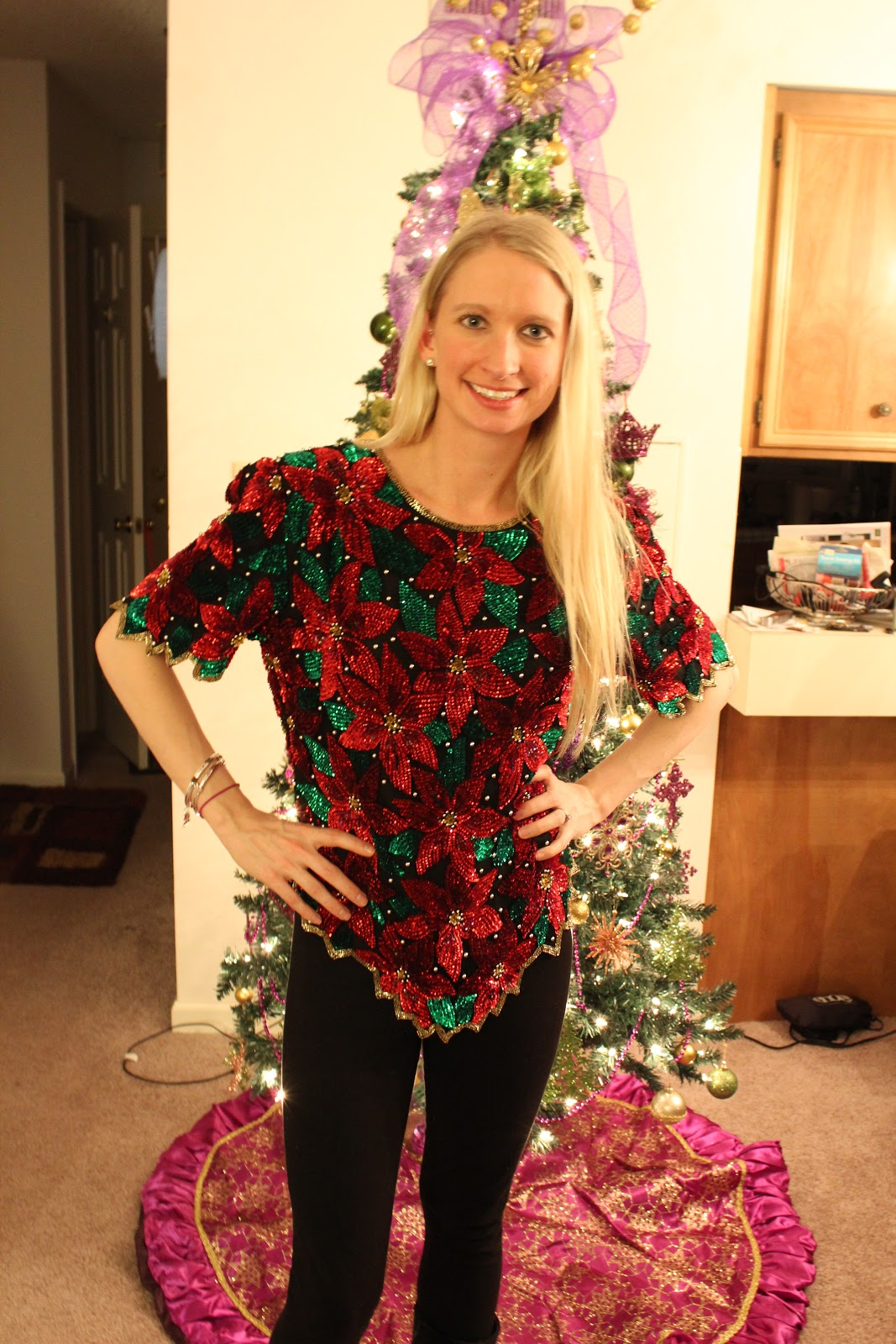 Keepin It Thrifty What I Wore My Ugly Christmas Sweater