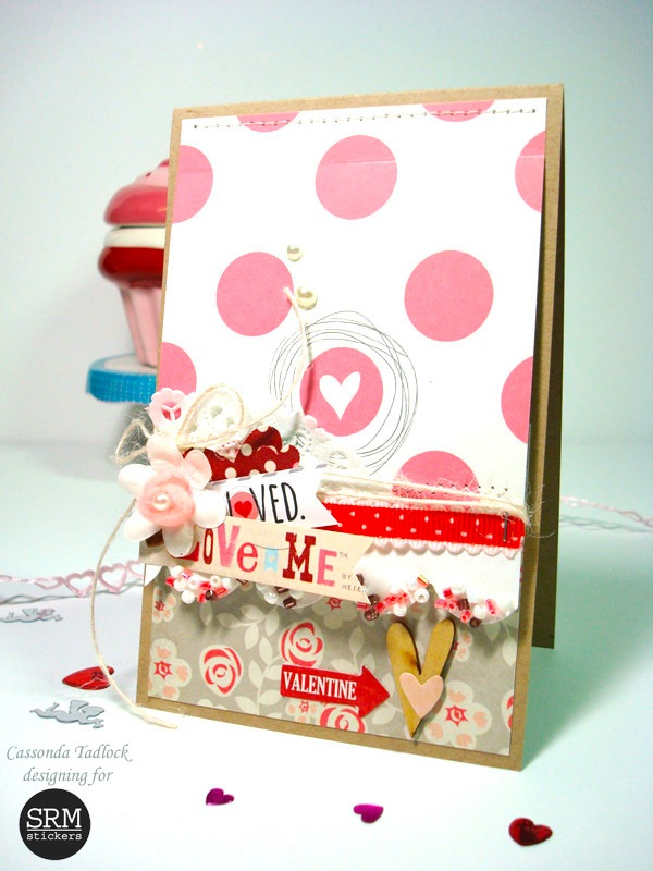 SRM Stickers Blog - Love Me Card by Cassonda - #valentines #card #doilies #stickers