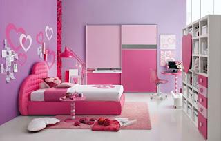 desain kamar anak Perempuan warna pink