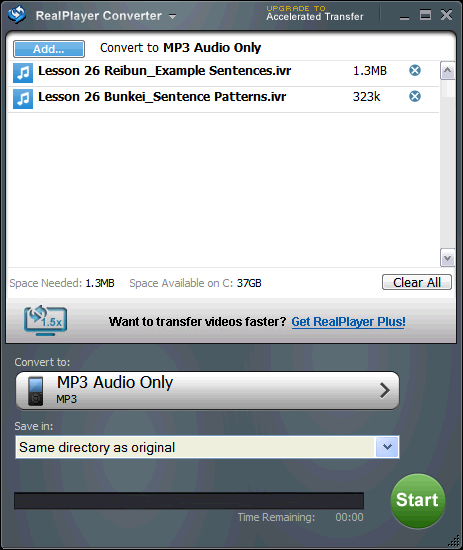 Blog: Convert .ivr files to .wma or .mp3 format using RealPlayer ...